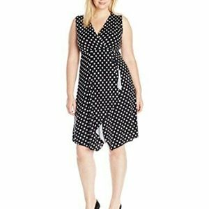 Star Vixen Women's Sleeveless Midi Polka Dot Dress